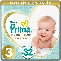Prima Bebek Bezi Premium Care, 3 Beden, 32 Adet, Midi Ekonomi Paketi