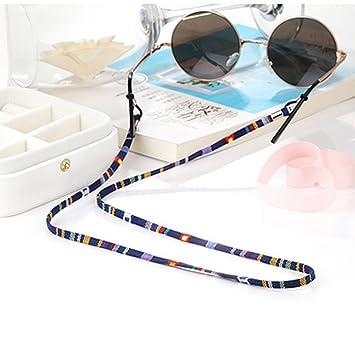 Práctico Anteojos Gafas de Sol Cuello de algodón Cuerda Cuerda Retenedor Correa Gafas Soporte de Silicona con Silicona Loop Blue