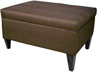 product image for MJL Furniture Designs Brooklyn Collection Large Upholstered Living Room Lift Top Storage Ottoman, Tillie Series, Mocha