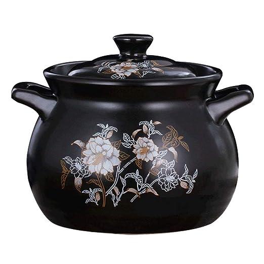 WJMLS Crisol de guisado de cerámica Hot Pot ollas de Barro ...
