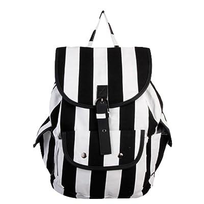 Yonger Unisex Simple Canvas Travel Rucksack Hobo Satchel Bookbags Backpack School Bag