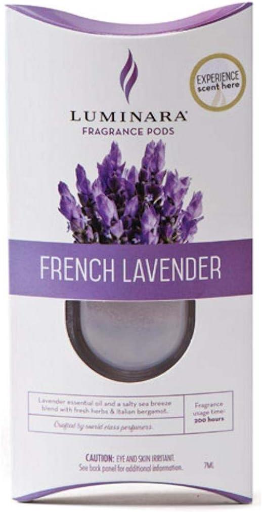Luminara Fragrance Cartridge FRENCH LAVENDERFor Luminara Fragrance Diffusing Flameless Candle Pillar,Clear,7ML