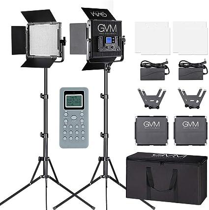 GVM LED Videoleuchten mit Lichtstativ Kit: Amazon.de: Kamera