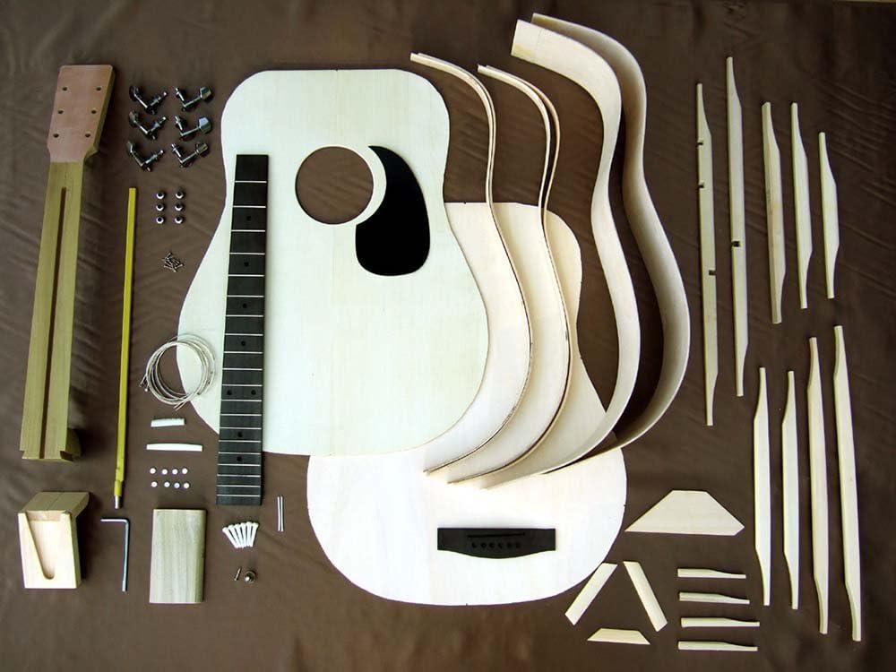 HOSCO ドレッドノート アコースティックギターキット マホガニーバック&サイド GR-KIT-D2