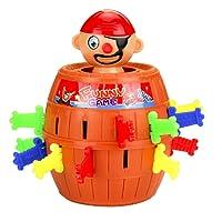 Naisicatar Pop Up Pirate Fun Barrel Enfants Préscolaire Groupe d'action du Jeu + Seau Jeu Turntable Insérer épée Funny Game Trick Toy Jouets Amusant
