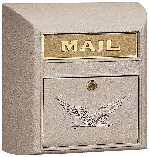 Salsbury Industries 4150E-BGE Eagle Door Modern Mailbox, Beige