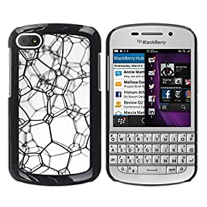 Paccase / SLIM PC / Aliminium Casa Carcasa Funda Case Cover - Messy texture - BlackBerry Q10