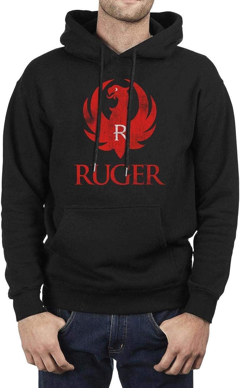 Ruger-Arms-Makers-for-Responsible-Citizens Hoodie for Men,Black Pullover Hoodie Sweatshirt Hoodie Sweater Sportwear