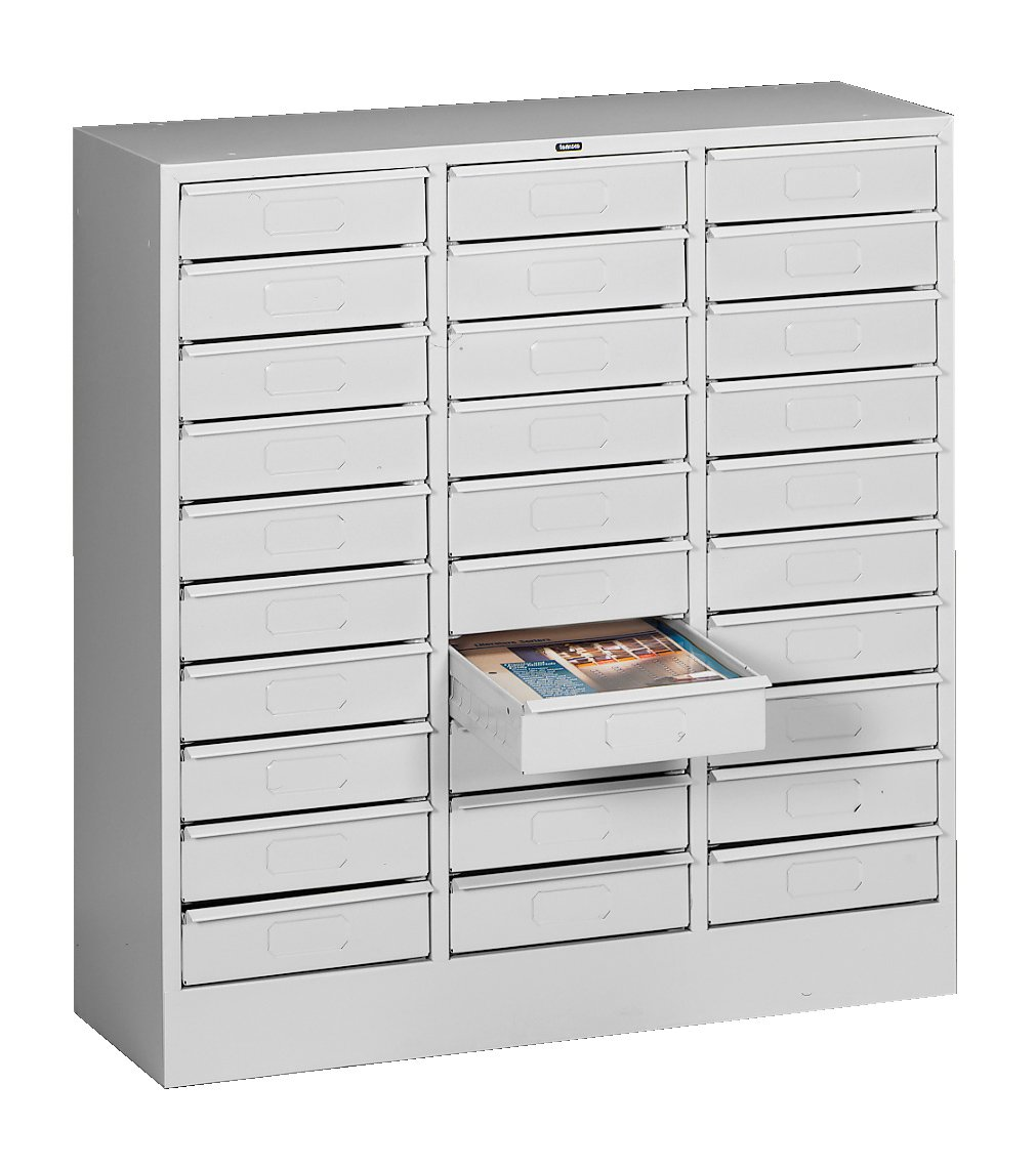 Tennsco 2085 Steel Letter Size Thirty Drawer Cabinet, 31 Design