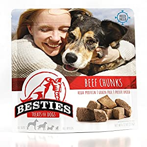 Besties Dog Treats | Freeze Dried Beef Chunks | 6.72 oz | Grain Free | Human Grade | Healthy