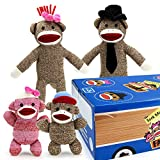 The Sock Monkey Family Woodie Wagon