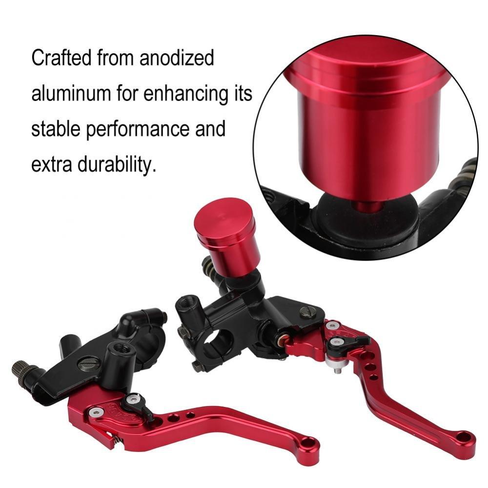 Palanca del Cilindro de Freno Qiilu 1 par de 22mm hidr/áulica CNC Bomba de Freno /& Embrague Ajustable de la Motocicleta Rojo