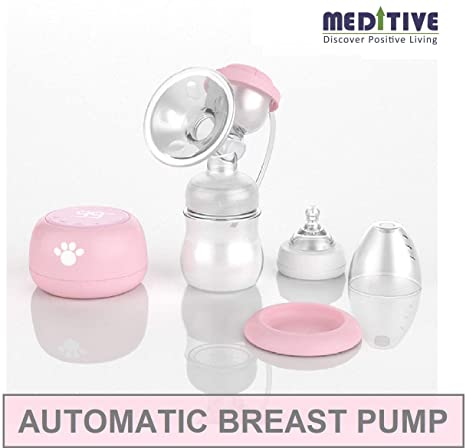 Buy Meditive Usb Rechargeable Dual Mode Massage And Suction Electric Breast Milk Pump White Online At Low Prices In India Amazon In
