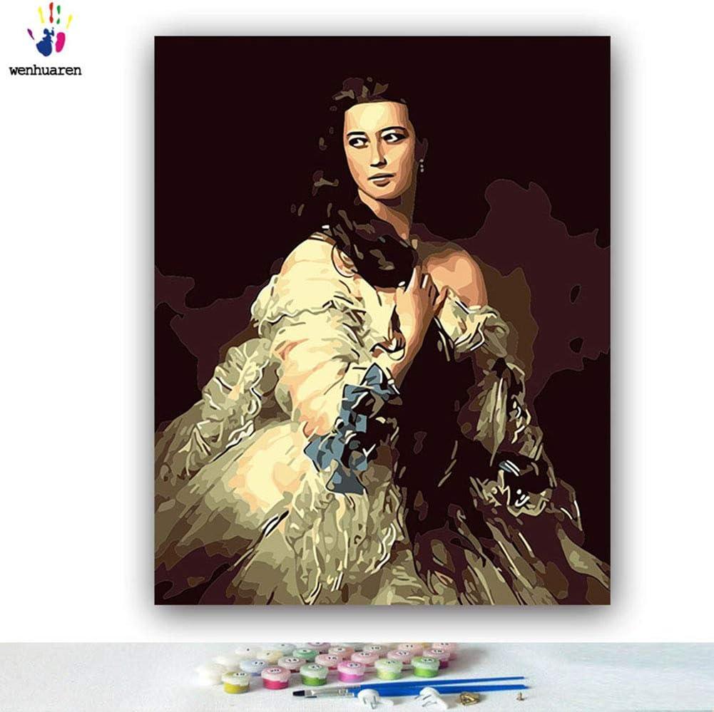 Kit de pintura por números, lienzo para manualidades, pintura al óleo para niños, estudiantes, adultos principiantes con pinceles y pigmento acrílico – Mrs. Rimsky Korsakov