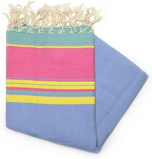 Cassis Pink - Toalla Hammam Fouta 100% Algodón, 100 cm x 200 cm, Ideal para la Playa, baño, Toalla de natación + más.: Amazon.es: Hogar