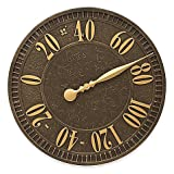 Whitehall Products Geneva Indoor/Outdoor Elegant Wall Thermometer in Aged Bronze
