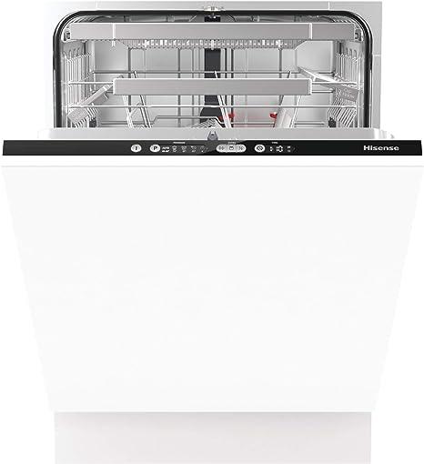 Oferta amazon: Hisense HV6131 - Lavavajillas Integrable 60 cm Ancho Hisense, A+++ con 16 cubiertos, 3 cesta superior regulable, 5 Programas y bajo nivel sonoro, Negro azabache           [Clase de eficiencia energética A+++]