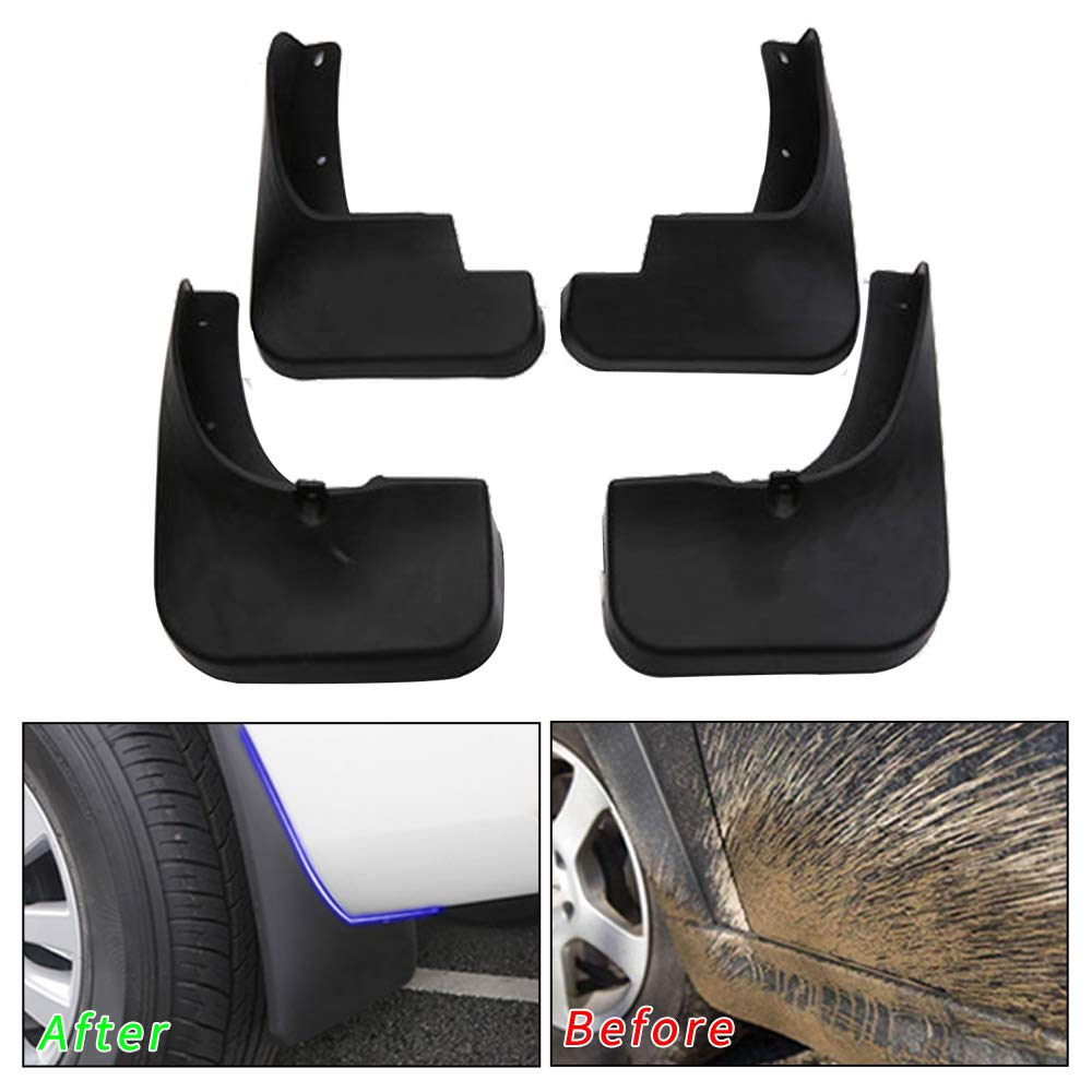 Muchkey no dril car mud Flaps for Hyundai Sonata 2018 2019 Sedan Fender Flare Splash Guard 4pcs//Set