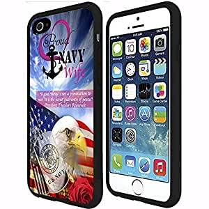 Navy Wife Hard Rubber on Case (iphone 5s)