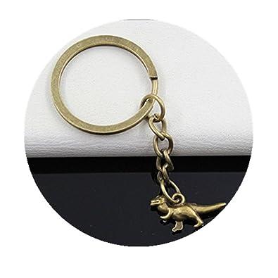 Fashion 3 cm de diámetro llavero Metal clave cadena llavero ...