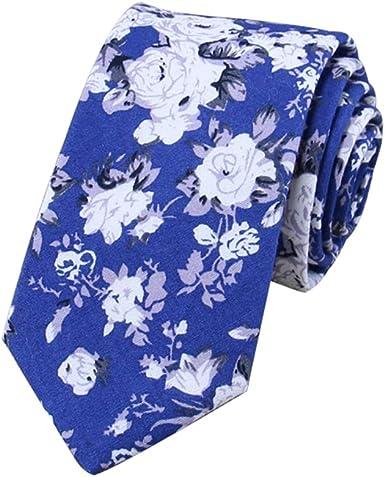 JUNGEN Corbata Estrecha de los Hombres Corbata Estampada de Flores ...