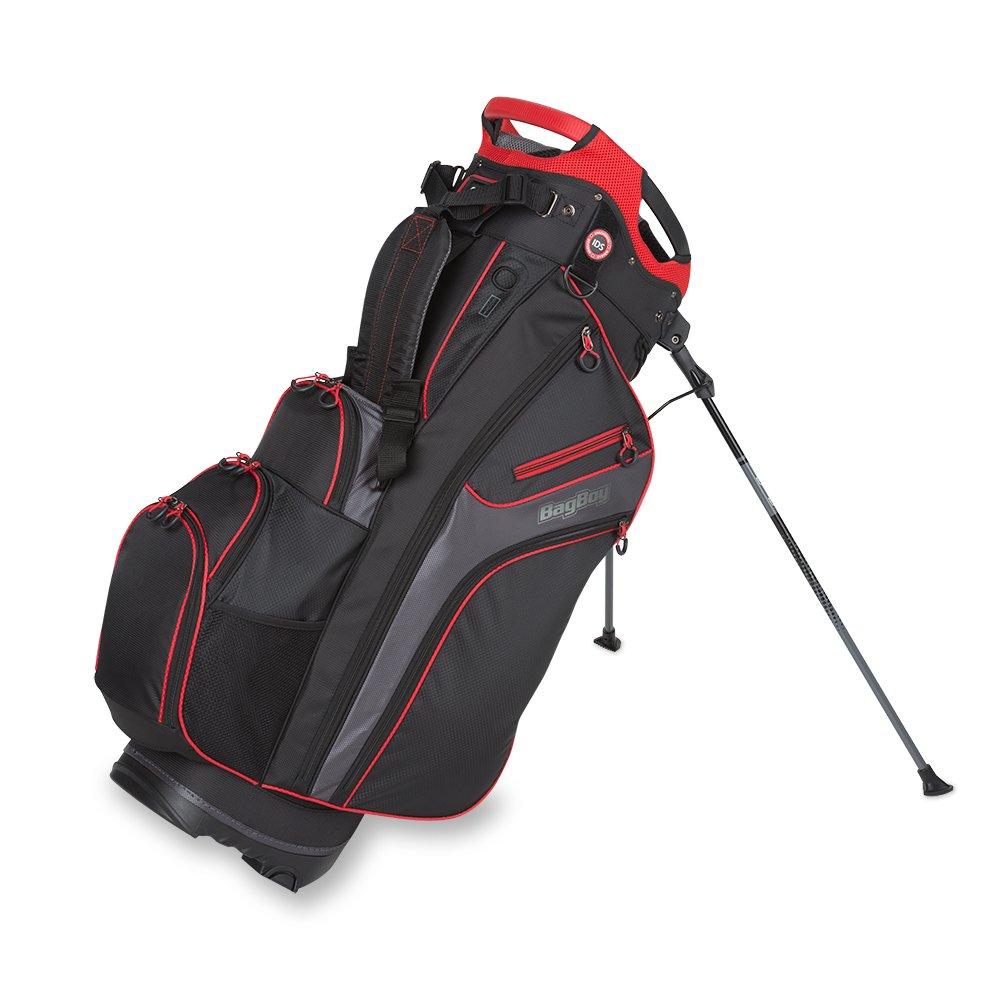 バッグBoyゴルフ2017冷却装置ハイブリッドスタンドバッグ B01LXAXDUA Black/Charcoal/Red Black/Charcoal/Red