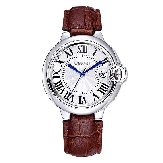 JIANGYUYAN FECHA Roma estilo impermeable plata carcasa correa de piel relojes mujer Lady Fashion vestido reloj