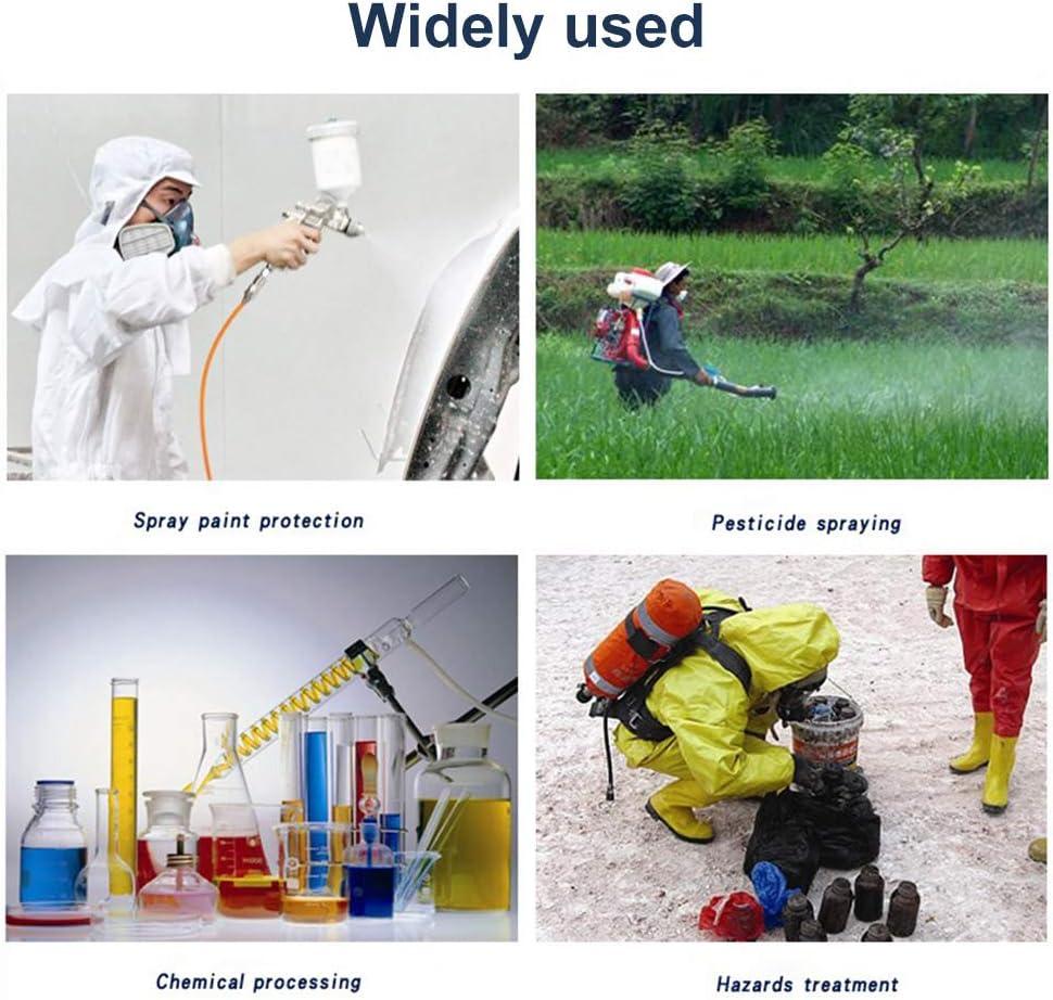 antistatischer Schutz-Overall Staub QICLT Schutzanzug mit Rei/ßverschluss und elastischem Baumwollb/ündchen Gegen Chemie Nuklearpartikel