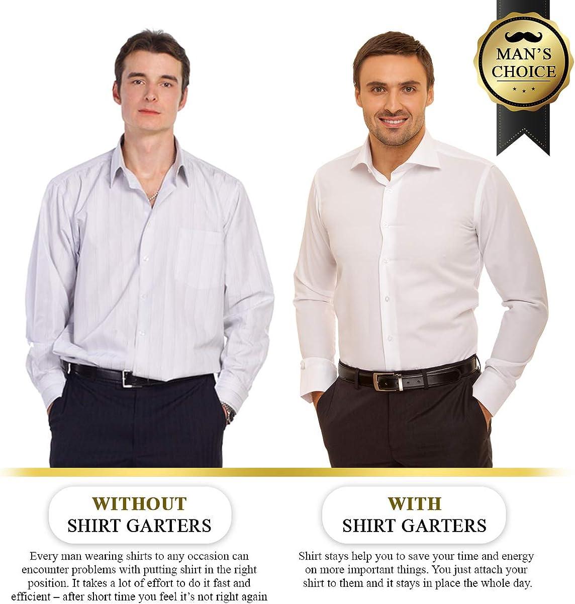 Sujeta Camisas 1 Par | Tirantes Camisa Pierna | Tirantes Hombre | Shirt Stay | Antiarrugas Para Camisas Invisible – Fácil De Colocar: Amazon.es: Ropa y accesorios