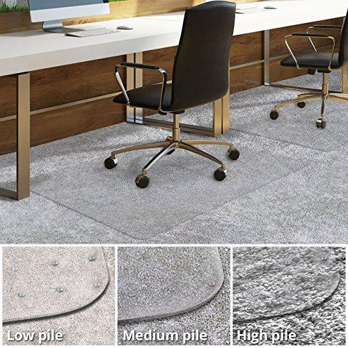 -[ casa pura PVC Chair Mat for Carpet Floor | Floor Protector for Medium Pile Carpets | 75x120cm |