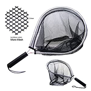 SAMS Aluminum Landing Nets Catch and Release Net Fish Saver Nylon Mesh for Fly Trout Kayak Boating Fishing