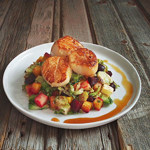 Scallops and Apple Gastrique (Serves 2)