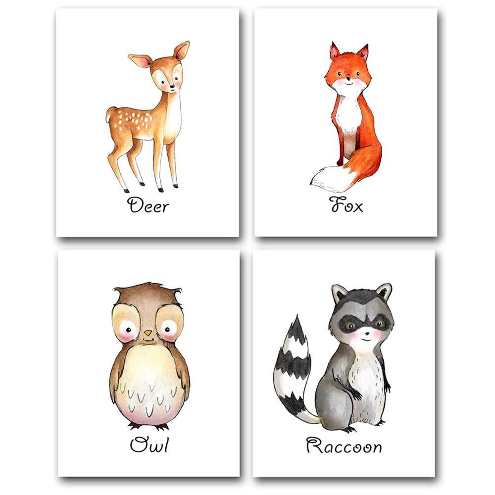 Woodland Animals - Set of Four Photos (8x10) Unframed