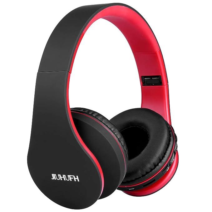 JIUHUFH Bluetooth Cuffie Wireless Pieghevole con Microfono  Incorporato Lettore MP3 Radio FM Auricolari a62e5902d883