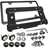 Aootf Rear License Plate Bracket Frame- Compatible with BMW 1 to 6 Series Mount Tag Holder with Plug-in Expanding Nuts…
