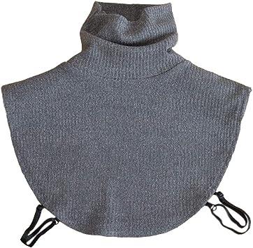 para Mujer Suave del Cuello Alto de Punto Dickey Falso Collar ...