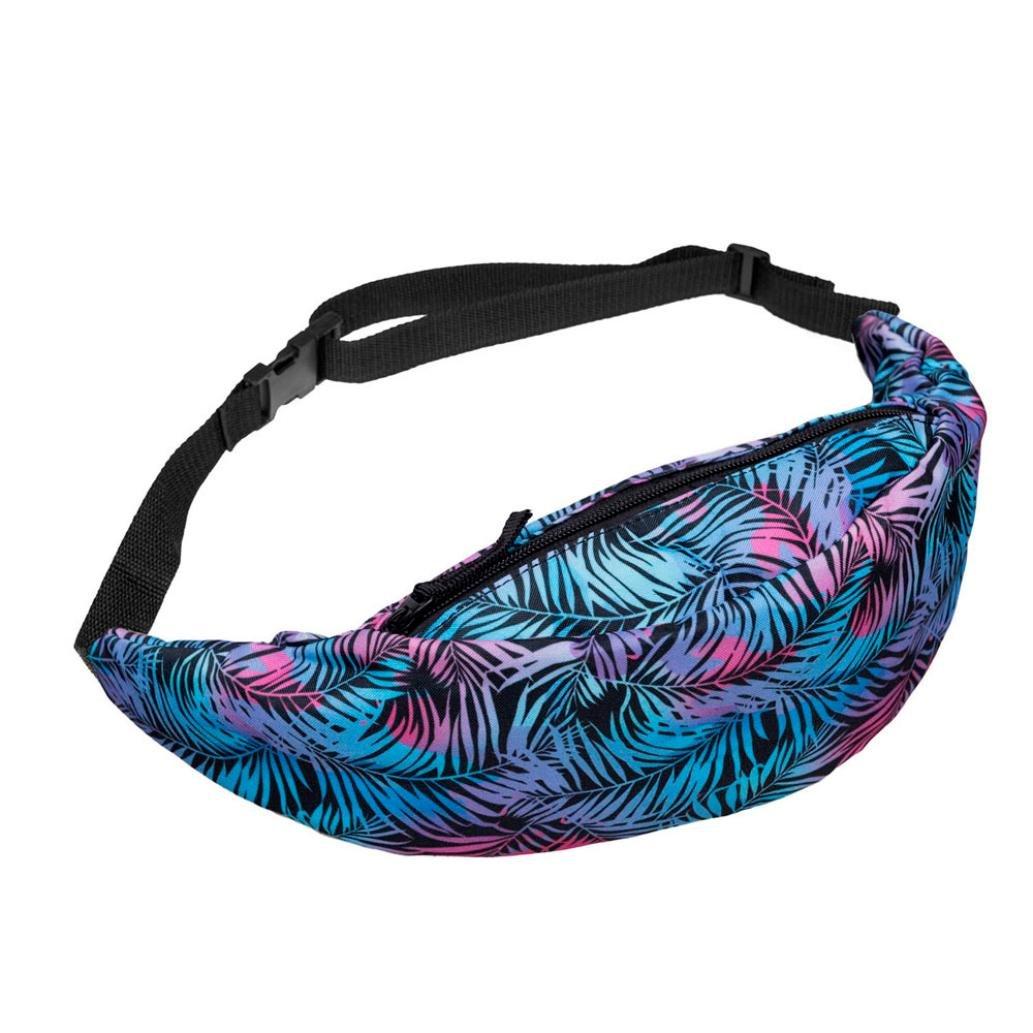 Fanny Pack, Women Teens Fashion Travel Sports Outdoor Belt Waist Bag Running Purse Pouch (C)