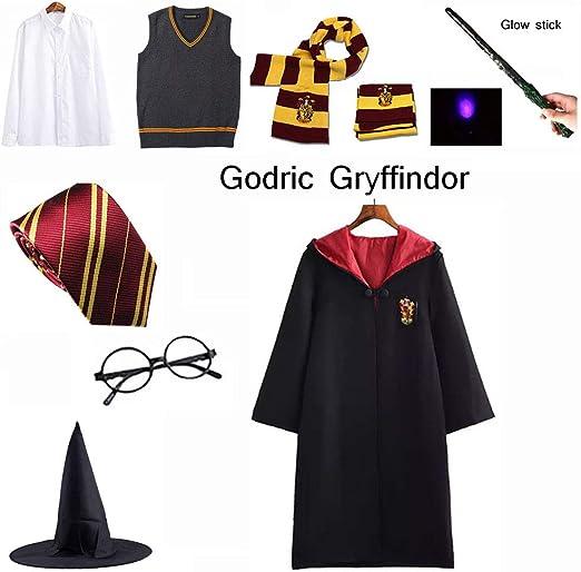 Harry Potter Costume Libro Settimana Vestito BACCHETTA OCCHIALI Cravatta Sciarpa
