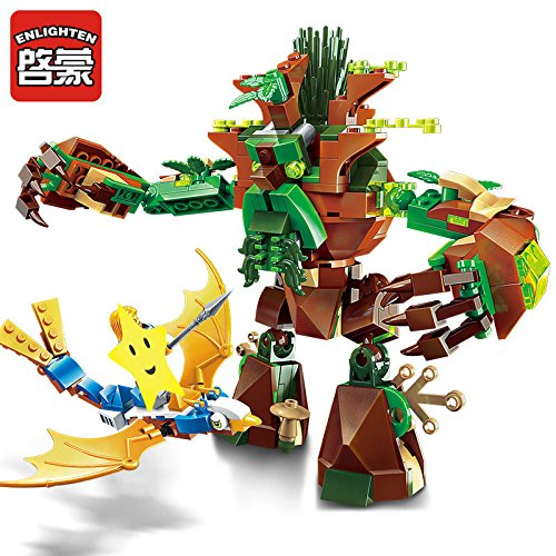 Enlighten Castle War of Glory War Of Ancient Tree 1 Figures 286pcs Educational Bricks Toy Boy Gift - Without Original Box