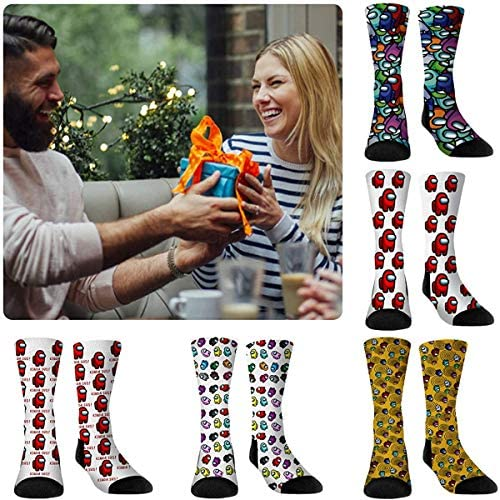 Among Us Game Socks Novelty Crazy Funny Stockings Socks Imposter Sus Socks Men Women Party Supply