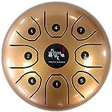スティール タング ドラム 5.5インチ ハンドパン   (金色)