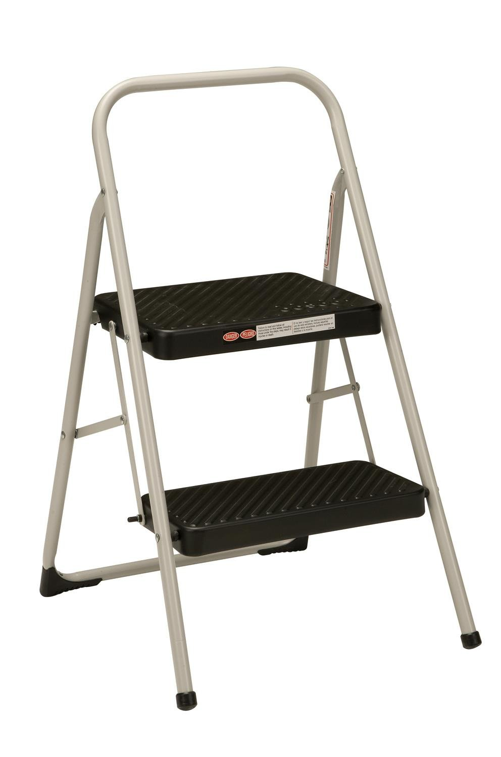 Cosco 2-Step Household Folding Step Stool, Gray by Cosco