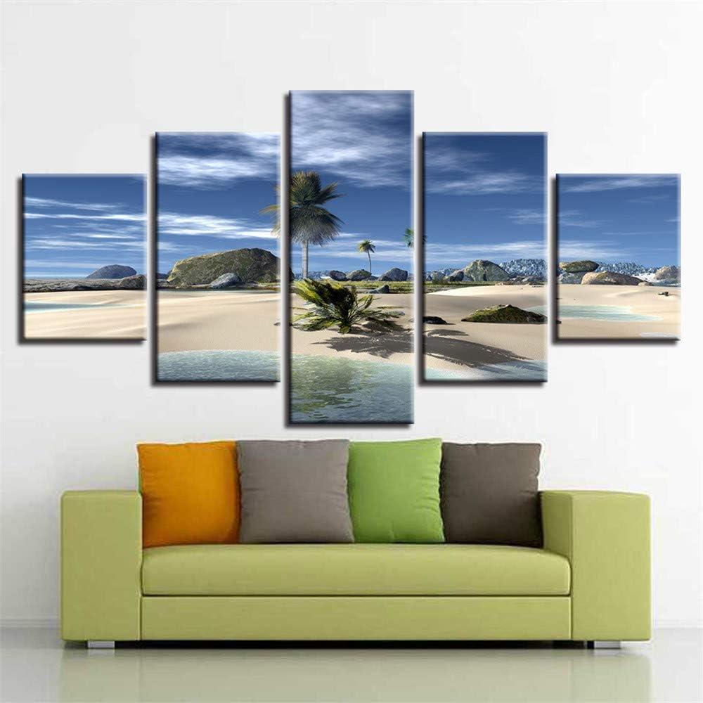 Pintura Decorativa, Hogar Sala de Estar Chorro de Tinta 5 Playa ...