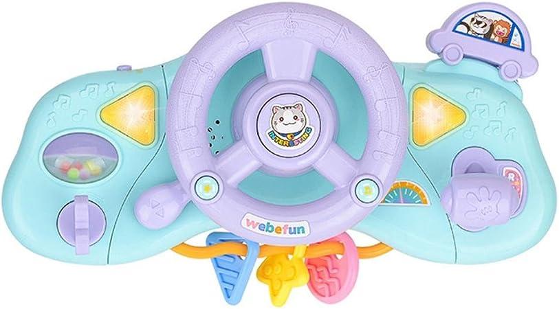 Simulation Licht Musik Lenkrad Spielzeug Baby Fahrer Kinderwagen Spielzeug Fr/üherziehung Infant Play Lenkrad Lernspielzeug