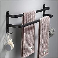 Handdoekhouder Wandmontage Handdoekenrek Voor Keuken Badkamer Aluminium Zwart Handdoekenbeugel Mat Zwart Handdoekhouder…
