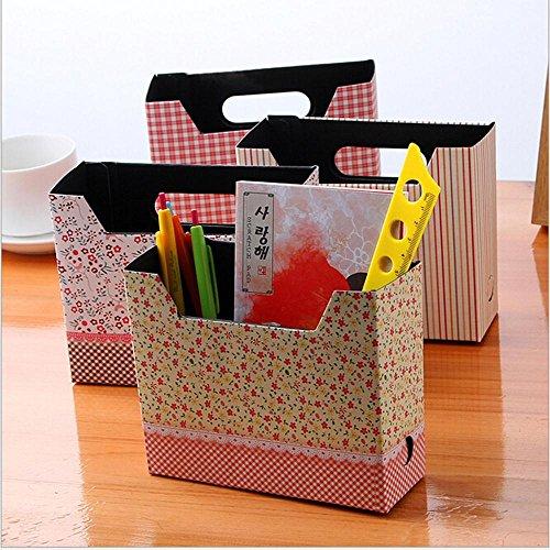 1pcs Cute Makeup Cosmetic Stationery DIY Paper Board Storage Box Desk Decor Organizer