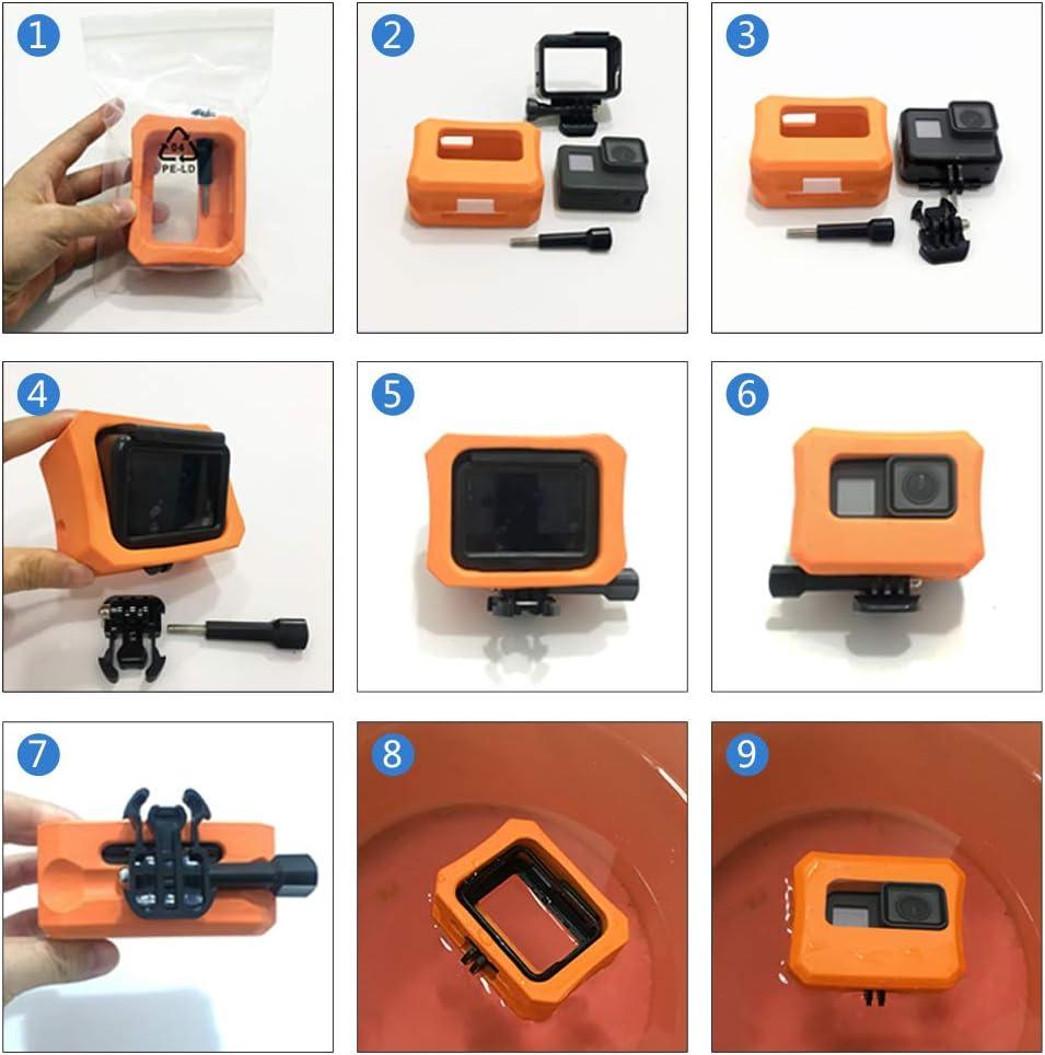Zhiyuan Floaty Case with Backdoor for GoPro HERO7 //6//5 Orange Durable