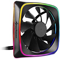 Sharkoon RGB Shark Lights Ventilador Caja Fan 120MM RGB LED, Color Negro