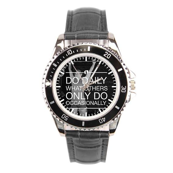 findself Hombres del ejercicio gimnasio Entrenamiento puño piel reloj barato Relojes de pulsera.: Amazon.es: Relojes