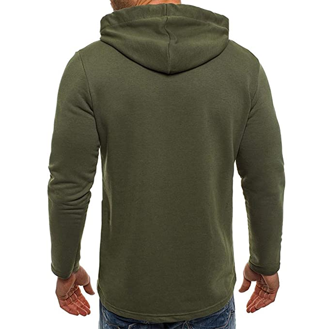 Amazon.com: XOWRTE Mens Pocket Fleece Winter Hooded Sweatshirt Outwear Tops Jacket Coat: Clothing
